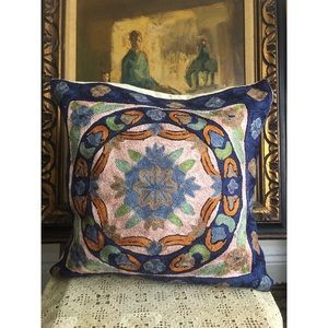 Vintage-Silk Embroidered-Pillow Cover